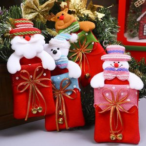 Santa Sacks Christmas candy bag storage box decorations for home gift biscuit casual food storage jar Christmas window ornamentd