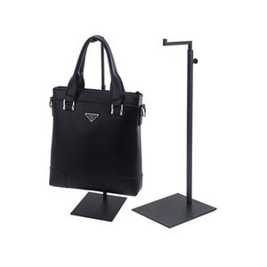 Preto Ajustável Handbag Display Rack Display de Metal Pendurado Ganchos Bolsa de Exibição Stand Bag Pendurado Rack QW7170