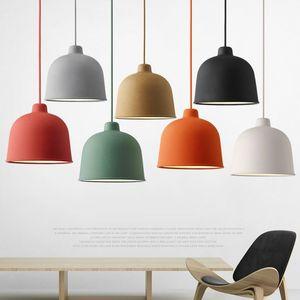 Nordic подвесной светильник macaron простой творческий ресторан лампа гостиная столовая бар кафе кровать украшения головы одна лампа