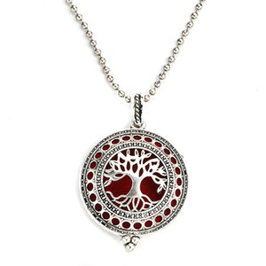 Magnetic Locket Quality Tree Necklace Life Oil Scent Diffuser Jewelry High Pendant Essential Of MODKISR 30mm Vpukd