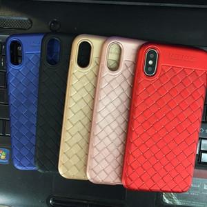Nuevo verano accesorios para el teléfono móvil dibujo tejido patrón trenzado tpu caja del teléfono para iphone x 7 8 plus 6 s 6 más