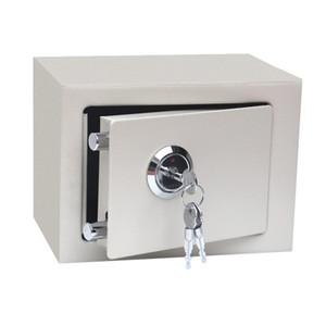 Мини-Solid Steel Key Управляется Деньги наличного Jewelry -Залог сейф для домашнего офиса дома