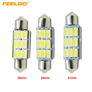FEELDO 10PCS 12VDC Auto weiß 36mm / 39mm / 41mm 3Watt 240lm 6SMD 5630 LED Girlande Licht Leselampe Bulb # 4362