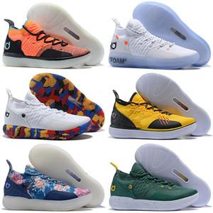 2018 Новое прибытие KD 11 мужская баскетбольная обувь, увеличить EP реагировать EYBL параноидальный многоцветный спортивные кроссовки Eur 40-46