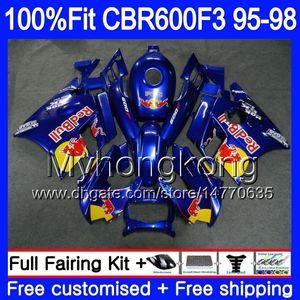CBR600RR HONDA CBR 600 Pour 2MY52 CBR600F3 injection CBR600 1997 1998 1995 1996 95 FS Jaune Bleu 600F3 CBR CBR600FS F3 F3 96 97 98 Juste iddn