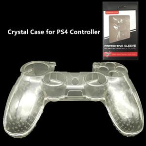 Frete grátis Protetora Transparente Transparente Crystal Shell Hard Case Capa Para PS4 Controlador com Pacote de Caixa de Presente