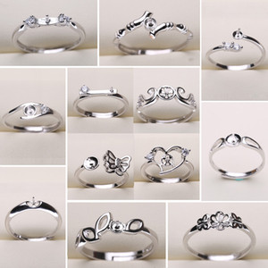 DIY Pearl Ring Settings 925 Sliver Rings Settings 20 Styles DIY Rings Adjustable size Jewelry Settings Christmas Statement Jewelry