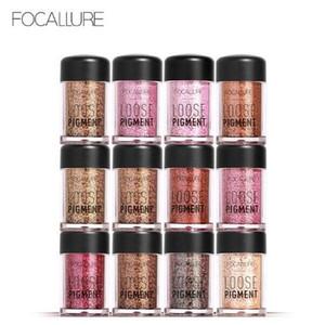 Fashion 18 colori Shimmer in polvere Focallure di marca Brighten glitter pigmento in polvere sciolto