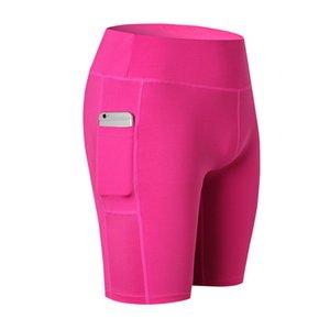 النساء رياضة اللياقة البدنية السراويل مع جيب مرونة الخصر كمال الاجسام تشغيل السراويل سريعة الجافة sweatpants الرياضة السروال أنثى ألوان كثيرة