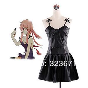 El diario Future Gasai Yuno Vestido Negro costume cosplay