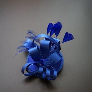 Estilo ocidental Senhoras Clássico Chapéus De Noiva Pequeno Cap Fascinator Sinamany Chapéus Para O Partido Banqut Casamento pequena pena Fascinator Sinamay chapéu