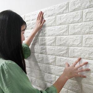 Brique 3D Papier Peint Papier Peint Autocollant Papier Peint Autocollant Décalque Papiers Peints Coloré TV Canapé Fond Décoration