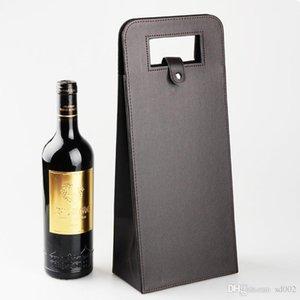 Pratik Saklama Çantası Düz Renk Cortex Kırmızı Şarap Çantaları Için Düzenli Üçgen Katlanır Bankası Kılıfı Düğün Kolay Taşıma 16jx cc