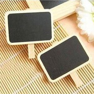 Mini Cute Kawaii Wooden Blackboard Chalkboards Clips Holder for Paper Decoration Photo Student free shipping