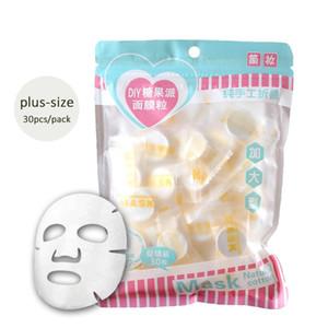 30 капсул конфеты DIY сжатая бумага Маска негабаритных нетканые маска для лица Уход за кожей лица маски и пилинги