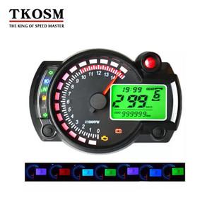 TKOSM KOSO Motorrad Digital LCD Tachometer Tachometer Kilometerzähler Motorrad Instrument 7 Farbe Display Ölstand Meter