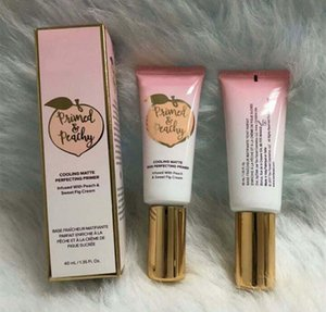 최신 Primed Peachy Cosmetics 40ML 쿨링 매트 스킨 퍼펙 팅 프리 머에 PeachSweet Fig Cream Facified Primer가 주입 됨