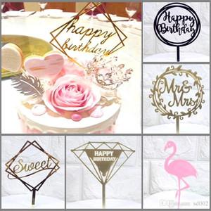 Bardian عاكس كعكة إدراج بطاقة إلكتروني الانجليزية الخبز المكونات في توبر ل حفل زفاف عيد الكعك ديكورات أكريليك 2 98hy dd