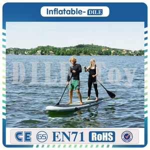 Envío gratis 305x76x15cm Inflable Stand Up Surfboard Surfboard Surfing Water Board Sup Board con Paddle Pump