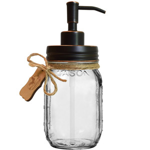 prova de alta qualidade ORB Finish Rust Chefe Pequeno 304 Stainless Steel Lotion Dispenser Soap bomba Lid DIY Mason Jar Soap Dispenser- NO Jars