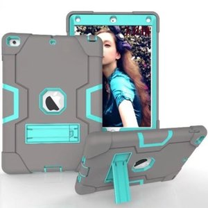 3 in 1 Defender Robot Heavy Duty Shockproof Case Cover Case For New iPad 2017 2018 Pro 9.7 2 3 4 5 6 Air Mini Mini4 LG DHL Free