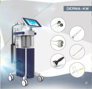 2018 Salon quiere 6in1 Hydra Dermoabrasión de agua con RF Bio-lifting Spa Facial Machine Máquina de belleza de agua hidráulica