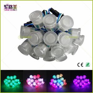 최고의 가격 DC5V 방수 WS2811 LED 픽셀 포인트 빛 직경 20 미리 메터 SMD5050 RGB 1 LEDs WS2811 IC LED 픽셀 문자열 모듈