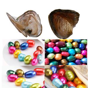 Hap şekli şerit inci oval tatlı su kabuğu inci istiridye 8-9mm karışık renkler inci istiridye ile vakum ambalaj fantezi hediye