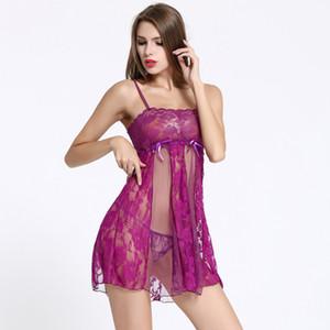 Nightgowns sleepshirts verão das mulheres dress half slip sexy lace underwear sleepwear íntima desliza moda roupas femininas anágua vestido
