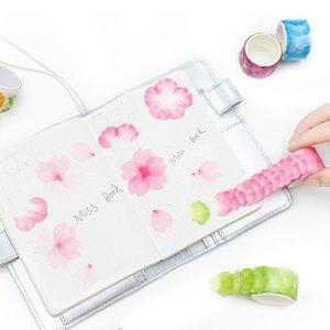 70-120 Adet / grup yaratıcı suluboya sakura petal washi bant yapışkanlı maskeleme bandı DIY dekorasyon sticker scrapbooking planlayıcısı için 2016