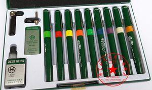 Authentischer Held Technischer Stift Hohe Qualität Haken Linie Stift Architektonisches Design Zeichnung Wiederholte Füllung Tinte (9Pens / Set)
