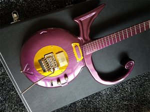 1993 Rare Príncipe guitarra Símbolo Purle Amor guitarra elétrica Floyd Rose Tremolo arremate ouro Hardware roxo Single Coil Captura anel de ouro