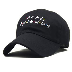Amigos real masculino diseñador Mujer Sombreros Letters patrones de bordado de Hip Hop Ball Caps Hombres Mujeres Sombreros