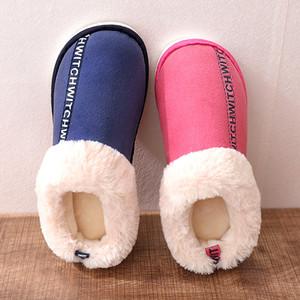Marka Deri Kış Sıcak Ev Terlik Erkekler Ve Bayan Terlik Kısa kadın Kar Botları Tasarımcı Kapalı Ev Ayakkabıları Evrensel Çift Severler