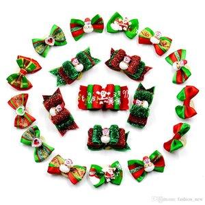 20 قطعة / الوحدة اليدوية الكلاب الشعر الانحناء حلو عيد الميلاد القط الكلب الاستمالة الشعر الانحناء مهرجان اكسسوارات للشعر مختلطة