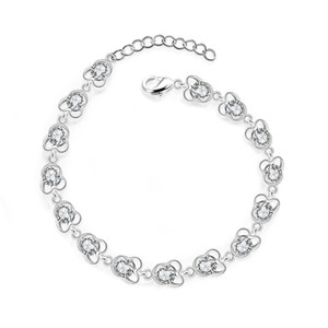 JEXXI блестящие ювелирные изделия топ продажа женщина браслеты твердые Серебряный австрийский хрусталь циркон камень браслеты свадебные обручальные аксессуары