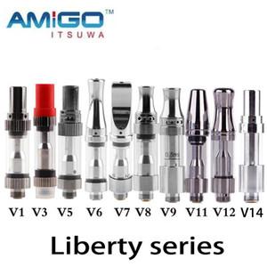 New iTsuwa AMIGO Liberty Tank CE3 Cartridges V1 V3 V5 V7 V8 V9 V12 V14 Vaporizer For Preheat Battery 100% Original