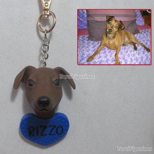 Chaveiro personalizado key tag chaveiro do carro chaveiro dog cat face dollhouse cão escultura polímero silhueta de argila bolo de casamento topper