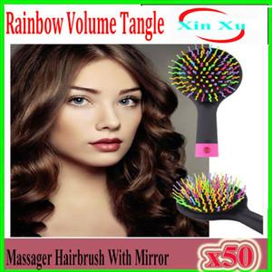 Kamm Pinsel Rainbow Volume Magic Hair Styling Werkzeuge Haarbürste Anti Verwicklung Antistatische Haarmassage Hohe Qualität 50 stücke XU-TT-04