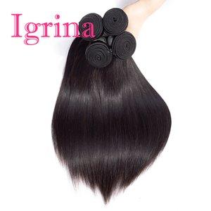 Igrina Malaysian Vierge Cheveux Raides 4 Offres Bundles Bon Armure Pas Cher Pas Cher Remy Bundles De Cheveux Humains Malaisie Extensions de Cheveux Humains