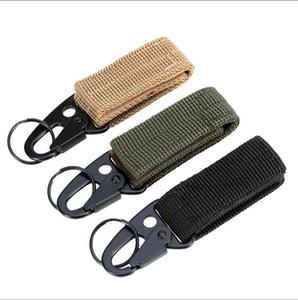 Tactical Clip Band Gear Keeper Llavero Mosquetón Clip - Nylon Belt Key Ring Holder Suspensión Utility Llavero Hook Compatible con Molle Bags