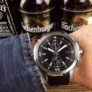 u1 fabrika Kauçuk Kayış Erkekler Saatler Yüksek Kalite Moda Spor Kuvars Chronograph paslanmaz çelik saatler orologio di lusso