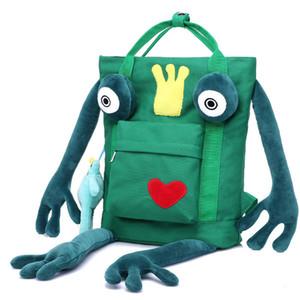 Borsa da viaggio in tela personalizzata borsa zaino cartoon uomini e donne borsa zaino rana