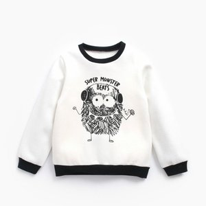 Baby Boys girls Sweatshirt cartoon printed animal Children spring Autumn Long Sleeve Tops Clothes Kids T shirts