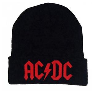 Homens Mulheres Inverno Quente Beanie Chapéu Rock ACDC AC / DC Banda de Rock Quente Inverno Gorros De Malha Macia Chapéu Cap Para Mulheres Dos Homens adultos