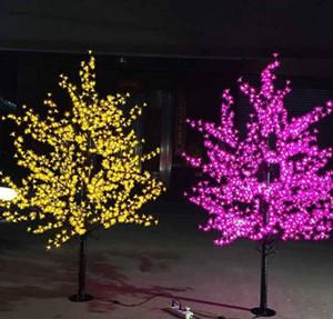 1.8 m Brillant LED Cherry Blossom Arbre de Noël Éclairage Étanche Jardin Paysage Décoration Lampe Pour la fête de mariage de Noël fournir