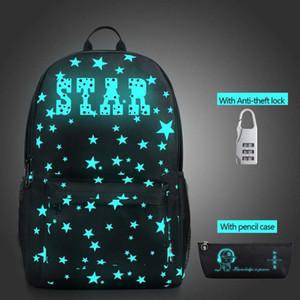 Star Nightlight School Mochilas Niños Bolsa de Hombro Impresión de la Lona Mochila Bolsas Escolares Para Adolescentes Mochila Mochila Mochila Y18110107