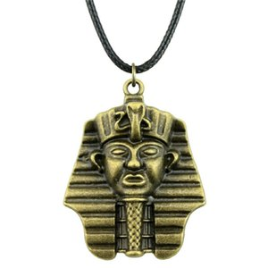 WYSIWYG 5 Pièces En Cuir Chaîne Colliers Pendentifs Choker Collier Femmes Collier Bijoux Égyptien Pharaon 36x28mm N6-A11417
