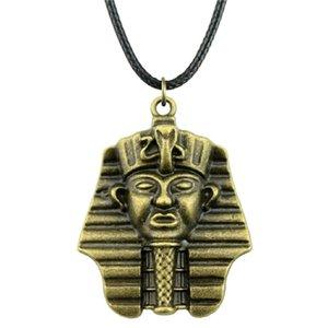 Colar 5 Mulheres de couro Faraó pingentes colares N6-A11417 WYSIWYG Gargantilha Jóias colar de corrente egípcia 36x28mm Pieces Clilv