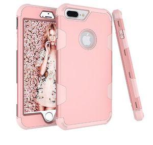 Armadura híbrido de luxo à prova de choque case para iphone 8 8 plus x 7 6 6 s 360 graus de cobertura completa para iphone 7 6 s phone case coque